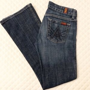 """7 For All Mankind """"A Pocket"""" Bootcut Leg Jeans 26"""